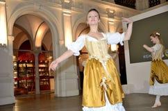 巴洛克式的舞蹈在波兰 免版税库存图片