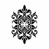 巴洛克式的锦缎马哈迪纹身花刺设计 免版税库存图片