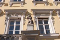巴洛克式的门面 免版税图库摄影