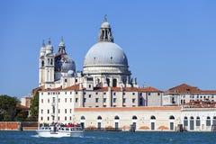 巴洛克式的17世纪教会圣玛丽亚della致敬,威尼斯,意大利 库存图片