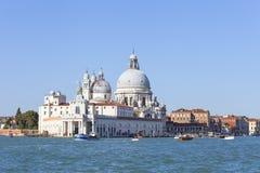 巴洛克式的17世纪教会圣玛丽亚della致敬,威尼斯,意大利 免版税图库摄影