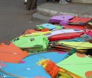 巴洛达街道风筝市场 免版税库存图片