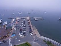 巴港,缅因-轮渡口岸 库存照片