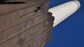 巴特锡发电站烟囱 库存图片
