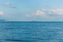 巴统看法从海的 免版税库存照片