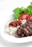 巴西、米和豆典型的盘  库存图片