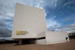 巴西利亚图书馆 免版税库存图片