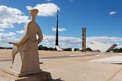 巴西利亚广场关闭三 免版税库存图片