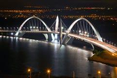巴西利亚桥梁jk地标 库存图片