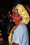 巴西印第安当地人 免版税库存图片