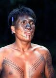 巴西印第安当地年轻人 免版税图库摄影