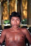 巴西印第安当地年轻人 免版税库存图片
