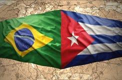 巴西和古巴 库存例证
