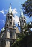 巴西大教堂保罗圣地se 免版税库存照片