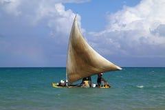 巴西捕鱼马塞约木筏 库存图片
