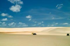 巴西新生儿童车的沙丘 图库摄影