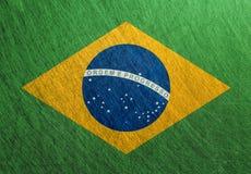 巴西旗子葡萄酒,减速火箭,被抓, 免版税库存图片