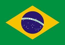 巴西旗子 向量例证