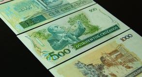 巴西有十字架花样的银币 免版税库存图片