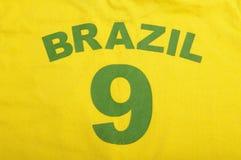 巴西橄榄球衬衣 免版税库存图片