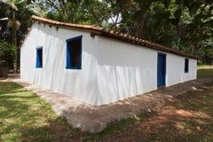 巴西殖民地历史房子保罗圣地呼喊 免版税库存图片