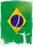 巴西海报 库存照片