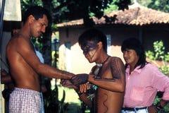 巴西的当地印地安人 免版税库存照片