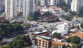 巴西罢工卡车司机在23/05/2018 免版税库存照片