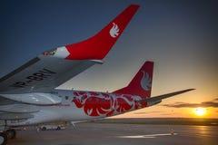 巴西航空工业公司190个布塔空中航线航空器 免版税库存图片