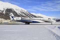 巴西航空工业公司ERJ-135BJ 免版税库存照片
