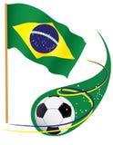 巴西足球符号 免版税图库摄影