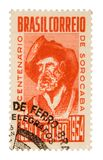 巴西邮票葡萄酒 免版税库存图片
