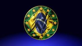 巴西,动画的旗子 皇族释放例证