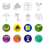 巴西,国家,伞,海滩 在概述, flet样式传染媒介标志股票的巴西国家集合汇集象 免版税库存图片