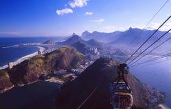 巴西:里约从糖小山的` s地平线 免版税库存图片
