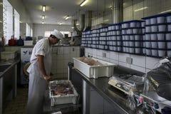 巴西-圣保洛- ONG Sermig -面包店 免版税库存照片