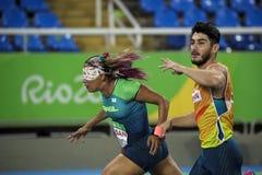 巴西-里约热内卢-残疾人奥林匹克运动会2016年竞技Terezinha Guilhermina 库存图片