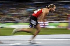 巴西-里约热内卢-残疾人奥林匹克运动会2016 400米竞技 免版税图库摄影