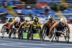 巴西-里约热内卢-残疾人奥林匹克运动会2016 400米竞技 图库摄影