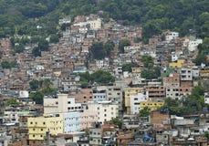 巴西de favela janerio里约贫民窟 免版税库存照片