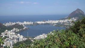 巴西de janeiro大面包山被查看的里约糖 股票视频