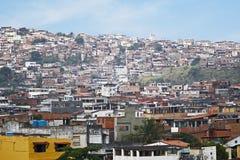巴西favelas贫民窟 免版税库存图片