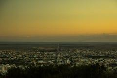 巴西sertão的日落在大都会Vità ³ ria da孔基斯塔的 库存图片