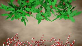 巴赫花和筷子 圣诞节符号 皇族释放例证