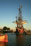 巴达维亚老船 免版税库存图片