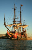 巴达维亚老船 免版税库存照片