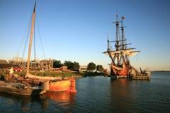 巴达维亚荷兰老船 库存图片