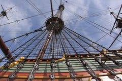 巴达维亚重建船voc 库存照片