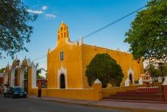 巴里阿多里德,墨西哥 圣安妮巴里阿多里德尤加坦,墨西哥教会  库存照片