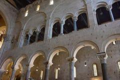 巴里,大教堂圣Nicola 图库摄影